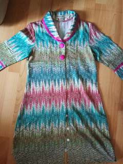 Krisna Wahyu Dress Batik Tribal Tosca Pink