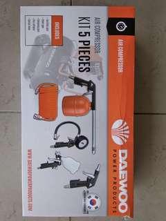 Air compressor kit 5 pcs