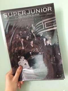Super Junior 4輯 A4 folder