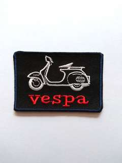 Vespa Vintage Motorbike Iron On Patch