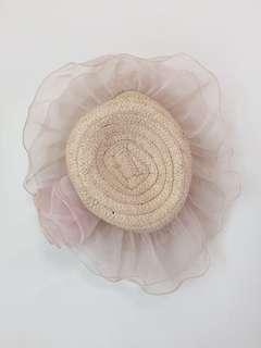 🚚 粉色浣紗草帽