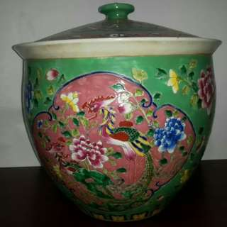 Rice Container with Nyonya Peranakan Design