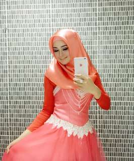 Party dress long dress gaun pesta hijab dress
