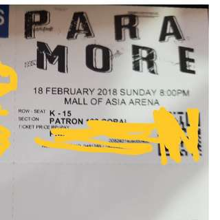 PARAMORE IN MANILA- FOR SWAP ANY 2 TICKETS WILL DO ADD NA LANG KAYO