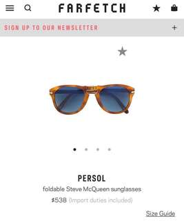 Persol 714 foldable sunglasses
