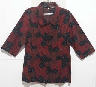 Batik Dark Red Size XXL