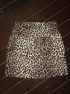 Forever21 Leopard Printed Bandage Skirt (S-M)
