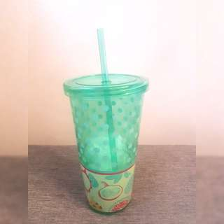 LONG GREEN PLASTIC WATER CONTAINER