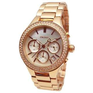 ROSE GOLD GLITZ CHRONOGRAPH LADIES WATCH WITH MOTHER OF PEARL DIAL NY8080
