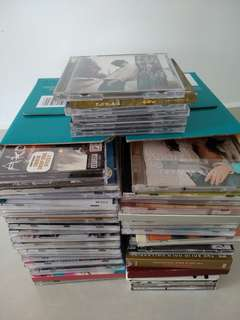 88 pcs used mix and assorted CD's