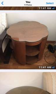 Art Deco teak coffee table 1930s vintage