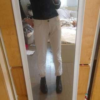 White Corduroy Women's Pants