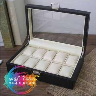 PU Leather Watch Display Storage Box