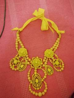 Yellow statement necklace kate spade style