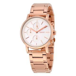 SOHO SILVER DIAL ROSE GOLD-TONE LADIES WATCH NY2275