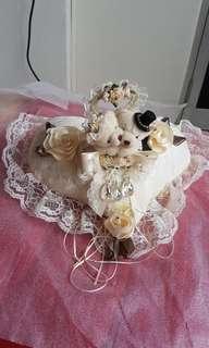 Heart Shape Teddy Ring Pillow (Wedding)