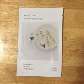 Ginseng Innisfree Squeeze Mask