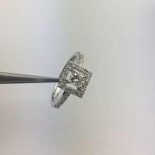 18K白金 83份鑽石 戒指 18K White Gold 83ct Diamond Ring 可議價