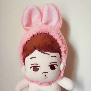 20cm Doll Bunny Ears Pink/White