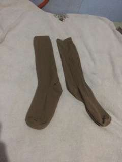 Boy scout long brown socks