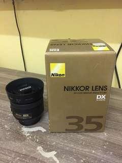 Nikon 35mm 1.8G lens