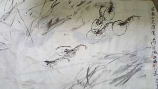 Chinese Painting(Not framed) 郭大维画陈文希补 135 x 70