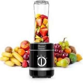 612. Personal Blender, Doctor Hetzner 300W High-Speed Smoothies Maker Juice Blender with a 20oz/600ml Portable Sport Bottle BPA-free Tritan Take-along Jar, Black