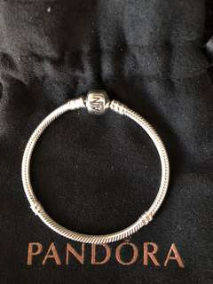 Pandora - 17cm Silver Bracelet with Silver Clasp - Brand New