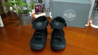 🚚 Palladium黑色反折帆布鞋