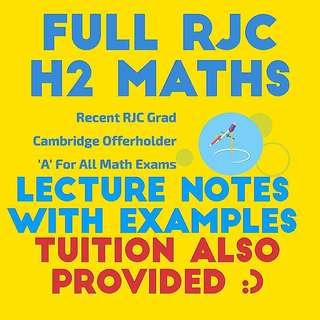 JC Maths Notes | RJC (2015/16 Lecture Notes)