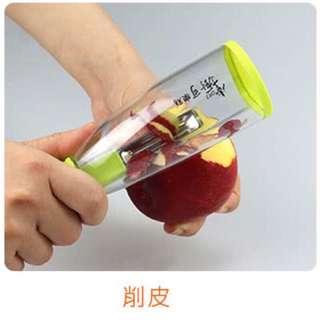 🚚 全新掌廚蔬果削皮不沾手神器(附保證卡)