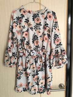 Jumpsuit Floral Pull n Bear