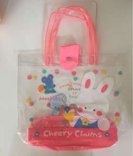 Sanrio vintage Cheery Chums tote 透明手挽袋 1991