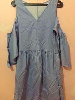 Dress Minimal warna biru
