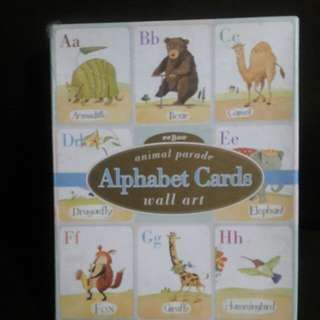 ALPHABETH CARDS Animal Parade Wall Art