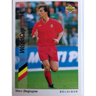 Mark Degruyse (Belgium) - Soccer Football Card #164 - 1993 Upper Deck World Cup USA '94 Preview Contenders
