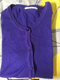 Uniqlo cardigan purple
