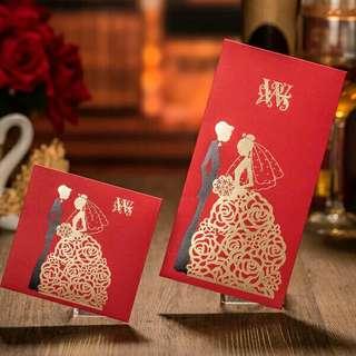 Wedding Red Packet 迷你欧式新婚硬质红包