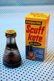古董Scuff Kote瓶裝鞋油