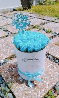 Blue roses Box with led