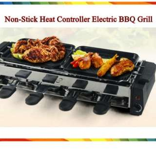 Non stick heat controller electric bbq grill