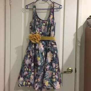 Dress with Flower Belt