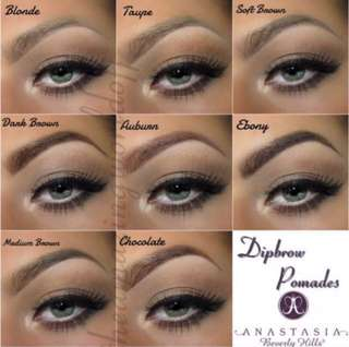 Anastasia Beverly Hills Dipbrow Eyebrow Promade With / Without Duo Eyebrow Brush