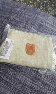 Lahella bags日本設計師品牌 亞麻旅行袋零錢包(小)