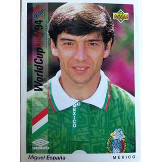 Miguel Espana (Mexico) - Soccer Football Card #161 - 1993 Upper Deck World Cup USA '94 Preview Contenders