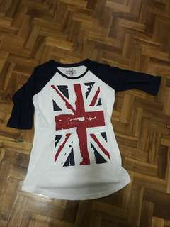 UK flag 3/4 top