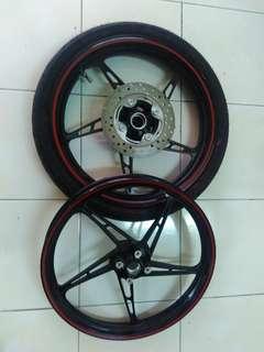 Sport Rim and Disk Brake Set