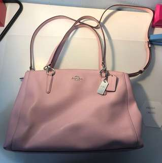 AUTHENTIC COACH PINK CHRISTIE CARRYALL LARGE BAG