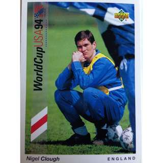 Nigel Clough (England) - Soccer Football Card #159 - 1993 Upper Deck World Cup USA '94 Preview Contenders