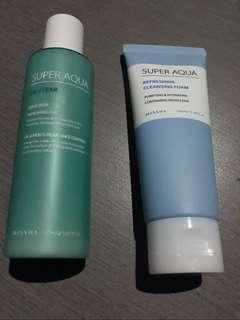 Missha Super aqua moisturizer & cleansing foam bundle